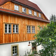 Holzfassade Frontansicht 2 in Schmilka/Sachsen